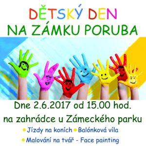 Dětský den na Zámku Poruba 2.6.2017 od 15.00 hod.