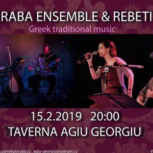 Qaraba Enseble   REBETIKO 15.2.2019 ve 20.00 hod.  Taverna Agiu Georgiu