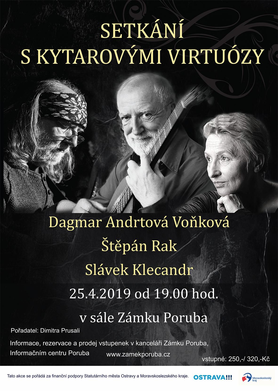 Setkání s kytarovými virtuózy 25.4.2019 od 19:00 hod.