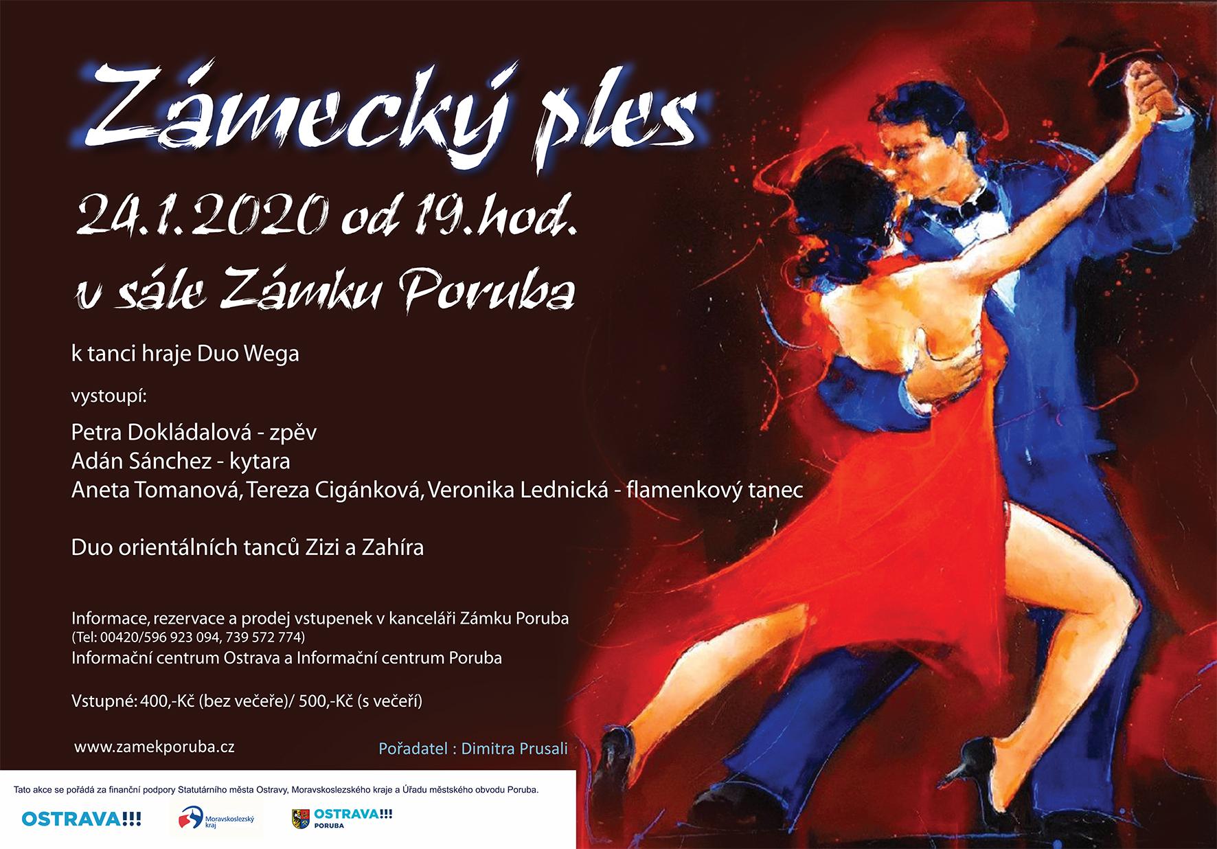 Zámecký ples 24.1.2020 od 19:00 hod.